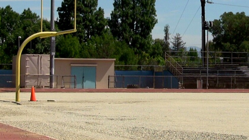 El Camino Real High is replacing its all-weather football field after issues involving pellets melting. It's one of five LAUSD high school fields being replaced.