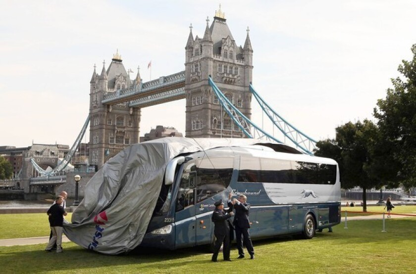 Greyhound bus makes one of its last overnight trips across Britain