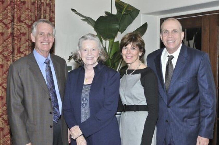 Incoming foundation directors Dan Platt, Connie Levi, Alyce Ashcraft and Jim Cimino