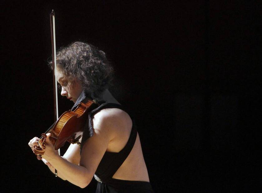 Review: Hilary Hahn's '27 Pieces' strikingly eclectic at Disney Hall