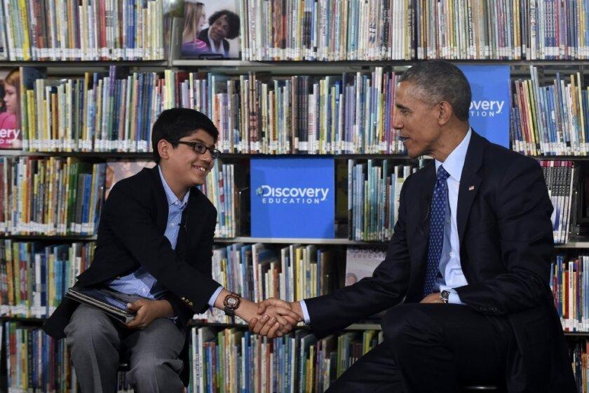 12-year-old interviews Obama