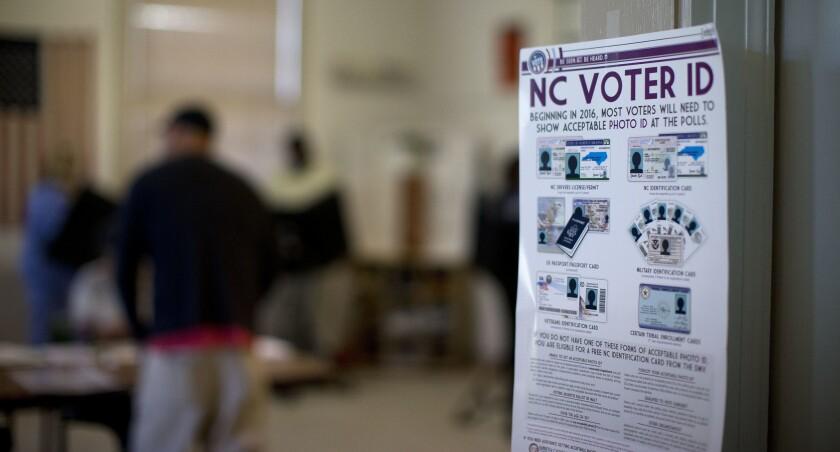 North Carolina voter ID rules