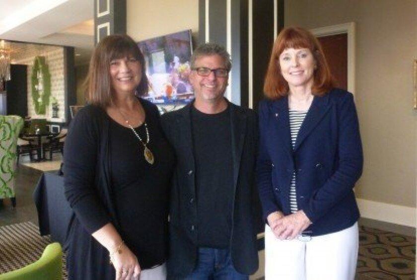 L-R: Julie Slavinsky, Garth Stein, Nancy Vaughan