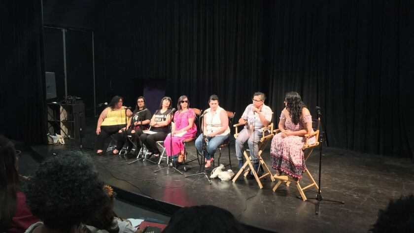 """Unpacking LatinO/A/X & Identity"" panel at the Gathering of Latina Writers."