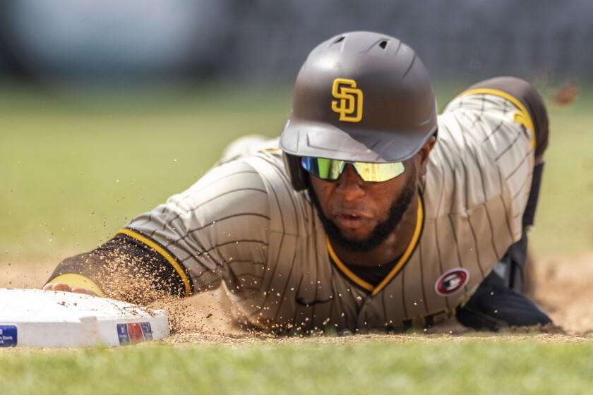 The Padres' Jurickson Profar (10) i