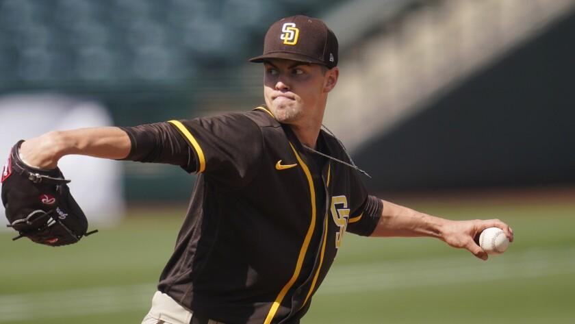 The Padres' MacKenzie Gore