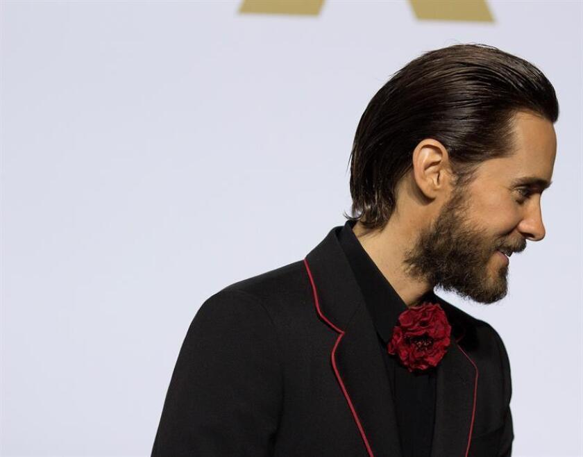 """El director sueco de origen chileno Daniel Espinosa dirigirá al actor Jared Leto (imagen) en """"Morbius"""", una cinta derivada (""""spin-off"""") del universo cinematográfico del estudio Sony sobre las historias de Spider-Man, informó hoy The Hollywood Reporter. EFE/ARCHIVO"""