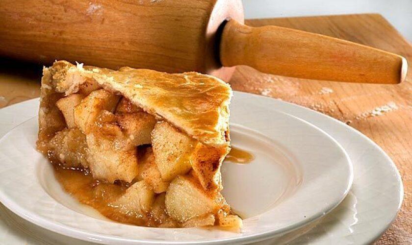 Apple pie with a sweet, spicy glaze.