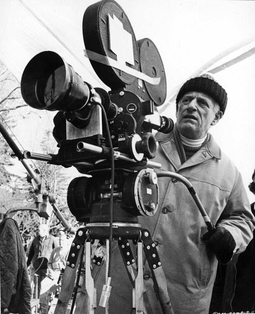 """Diector and producer Stanley Kramer on the set of his film """"R.P.M."""""""