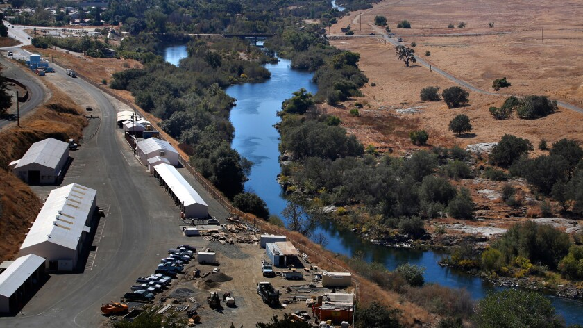 The first leg of the San Joaquin River restoration project in Friant, Calif., seen during an Oct. 5, 2016, tour.