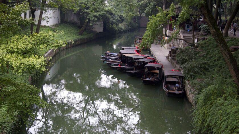One of the many waterways of Suzhou.