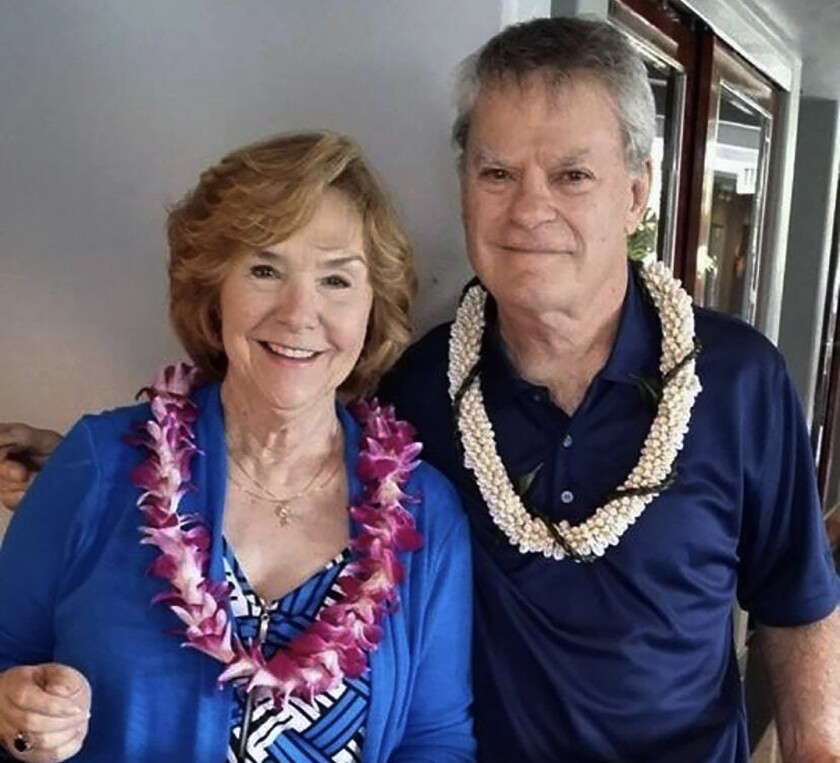 Frank Bonner and his wife Gayle