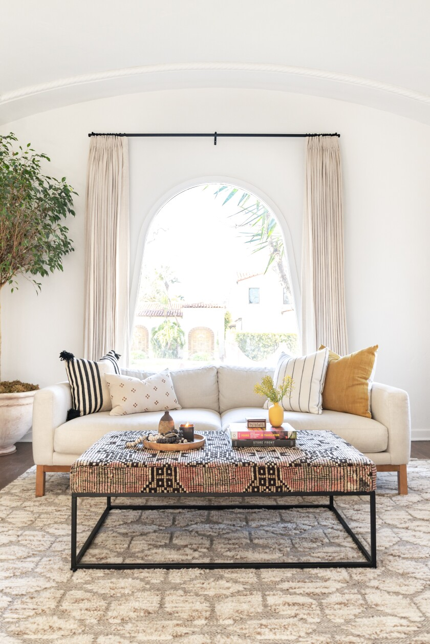 Lulu & Georgia attributes the popularity of the Maxwell sofa to its versatility.