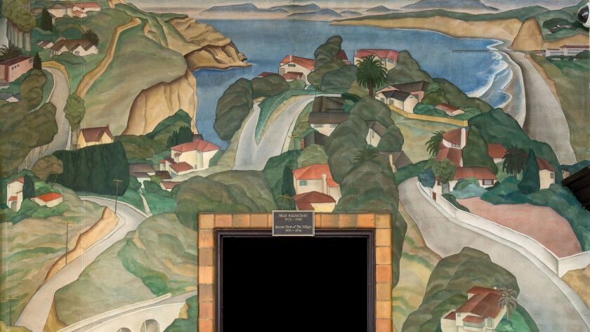 """The mural """"Scenic View of the Village,"""" by Belle Baranceanu"""