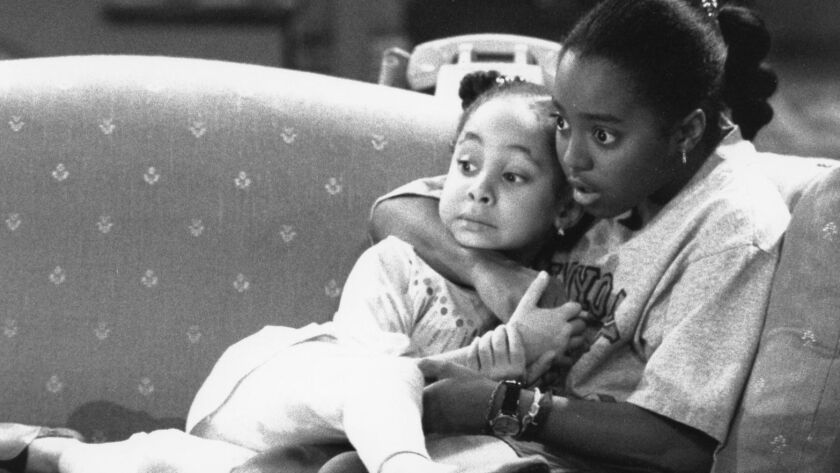 """Raven-Symone and Keshia Knight Pulliam in a still from """"The Cosby Show""""."""