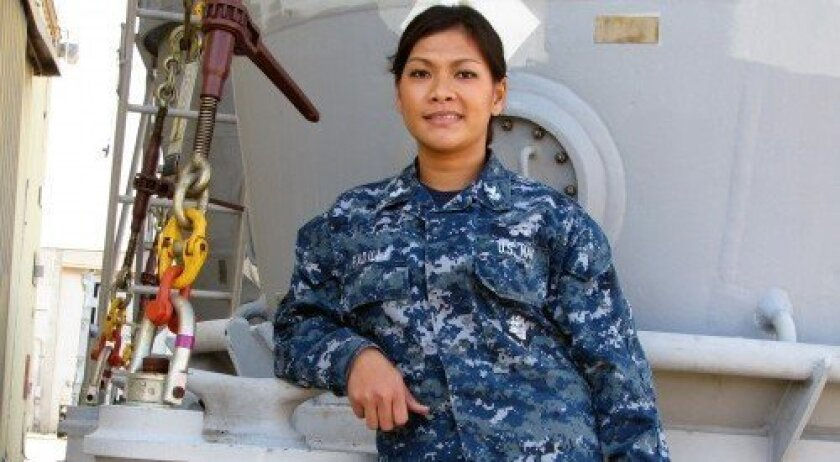 First Class Petty Officer HM1 Sunshine Padilla (Photo/Jeanne McKinney)