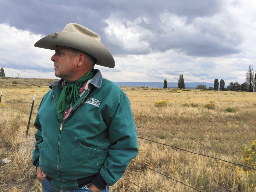 """""""Society has realized that the Endangered Species Act has the power to change things,"""" said Oregon rancher John O'Keeffe. """"We want stable communities. We want a stable ecological community — and we want sage grouse on it into the future."""""""