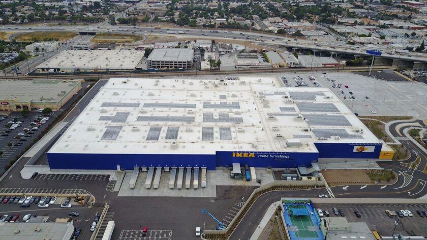 Burbank Ikea Begins Using Newly Installed Solar Panels Los