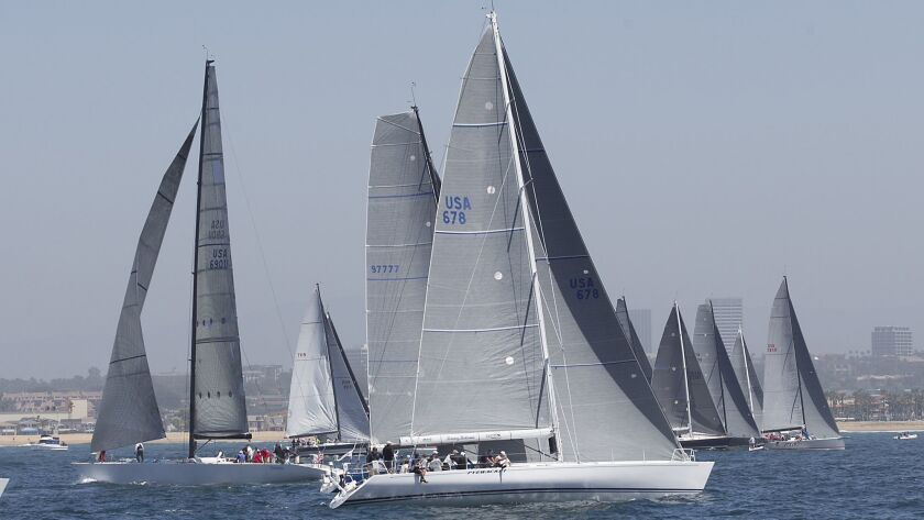 The USA 678 Pyewacket sets sail in the 70th annual Newport to Ensenada International Yacht Race in N