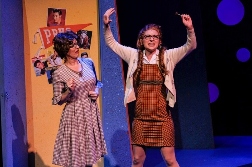 "Emma Nossal as Penny Pingleton in San Diego Musical Theatre's ""Hairspray."""