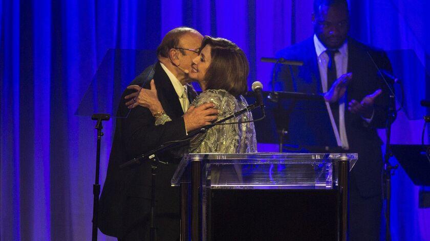 Clive Davis and Nancy Pelosi