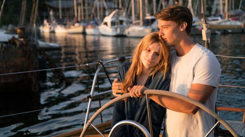 """(L-R) - Bella Thorne and Patrick Schwarzenegger in """"MIDNIGHT SUN."""" Credit: Ed Araquel / Open Road"""