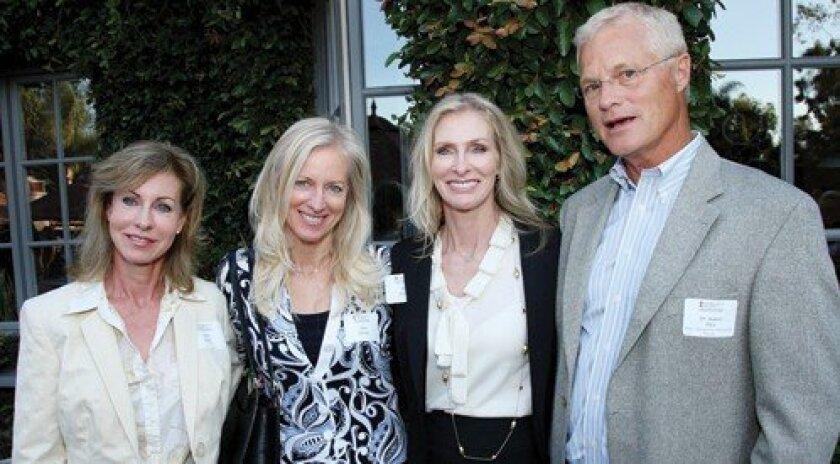 Carol Clark, Joyce Drozda, Ann Erickson, Dr. Robert Plice (Photo: Jon Clark)