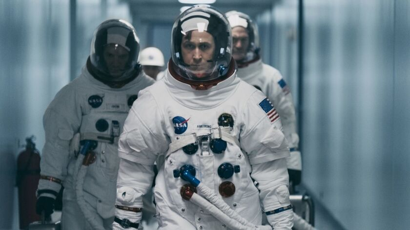 "This image released by Universal Pictures shows Ryan Gosling in a scene from ""First Man."" Damien Cha"