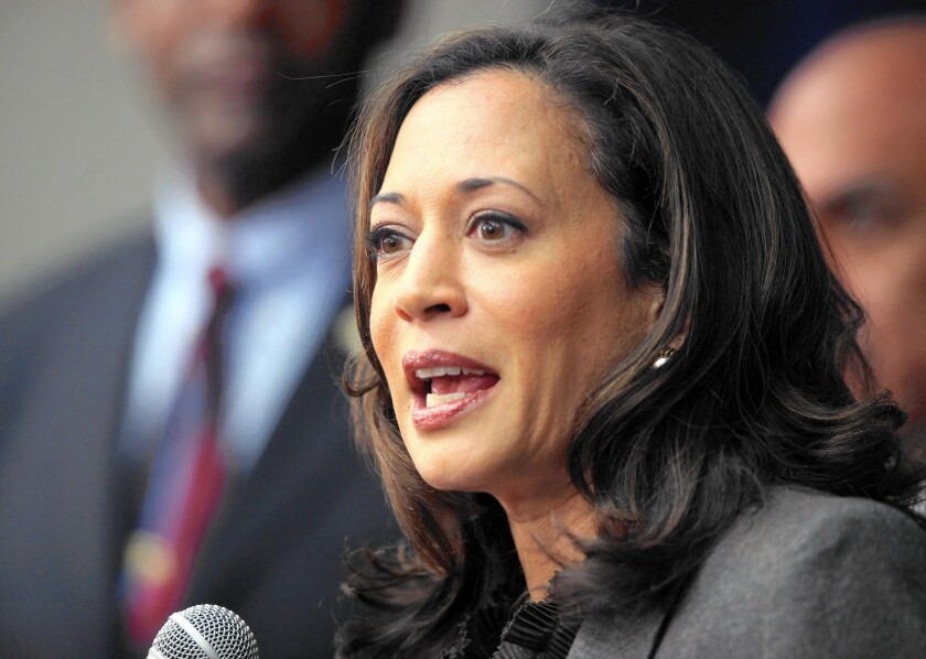 """California Atty. Gen. Kamala D. Harris gave the """"Voter Empowerment Act of 2016"""" its formal title and summary last week. Above, Harris in 2012."""