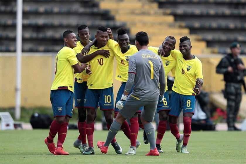 En la imagen, jugadores de la Selección Sub-20 de Ecuador. EFE/Archivo