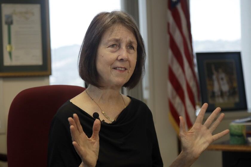 Sen. Nancy Skinner, authored the bill that allows athletes at California colleges to hire agents and sign endorsement deals.
