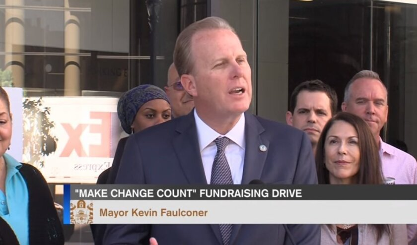 """One """"Inside San Diego"""" story featured video and text about a news conference by Mayor Kevin Faulconer and others."""