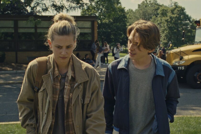 """Lili Reinhart and Austin Abrams in the movie """"Chemical Hearts."""""""