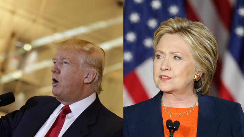 Hillary Clinton and Donald Trump took shots at each other during separate Sunday television appearances.