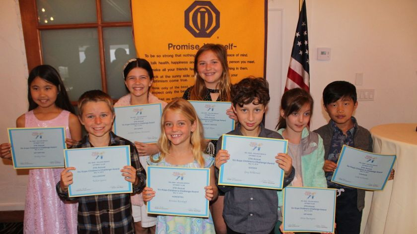 The Del Mar/Solana Beach Optimist Club recently held its 37th annual Vic Kops Children's Challenge Awards.