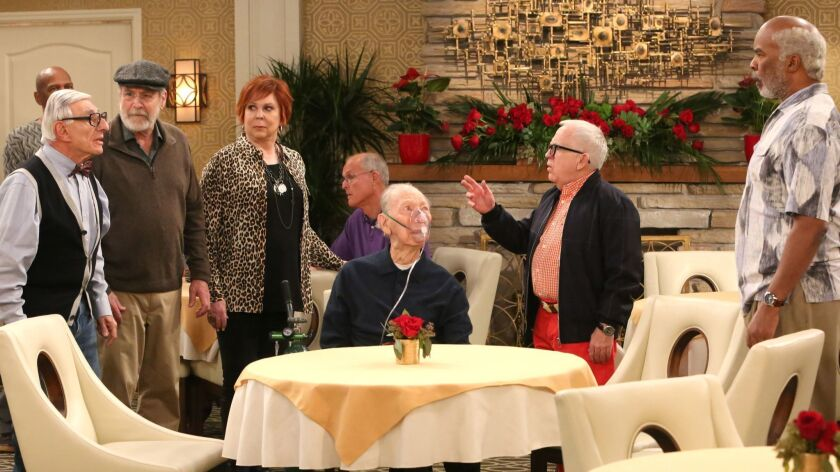 THE COOL KIDS: L-R: Martin Mull, Vicki Lawrence, Leslie Jordan, and David Alan Grier in THE COOL KID