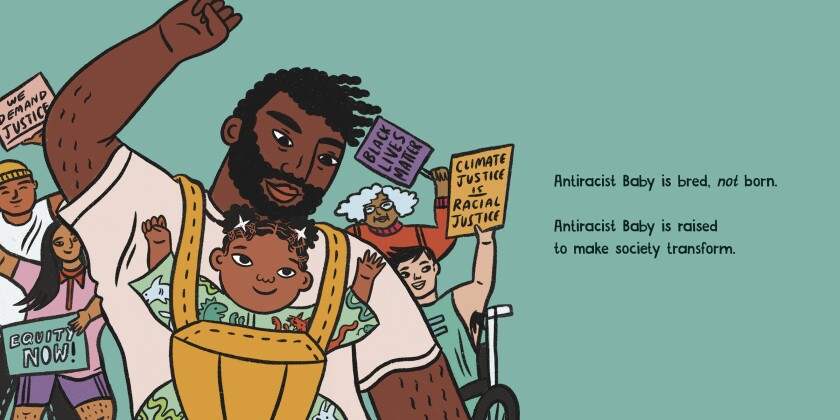 "Art from ""Antiracist Baby,"" by Ibram X. Kendi, illustrated by Ashley Lukashevsky."