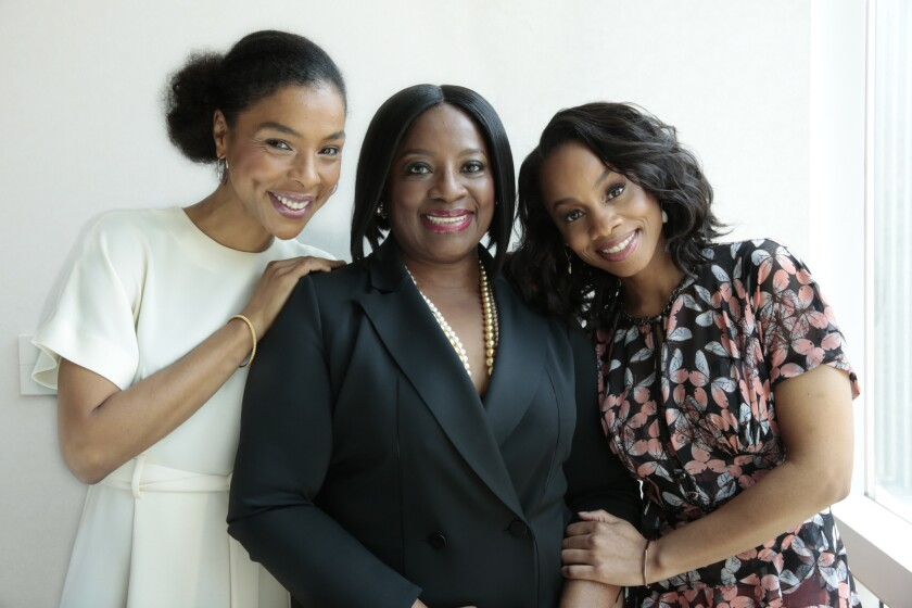 """Sophie Okonedo, left, LaTanya Richardson and Anika Noni Rose are Tony-nominated actresses from """"A Raisin in the Sun"""" on Broadway."""