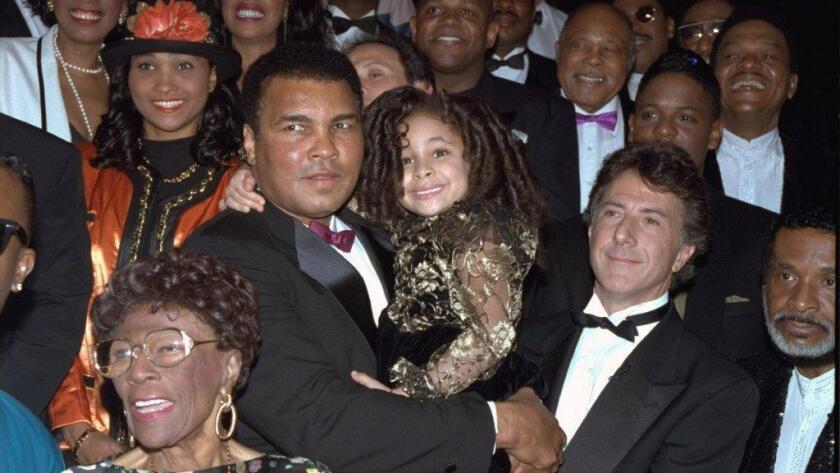Muhamed Ali en una de sus visitas a Los Ángeles en 1992.