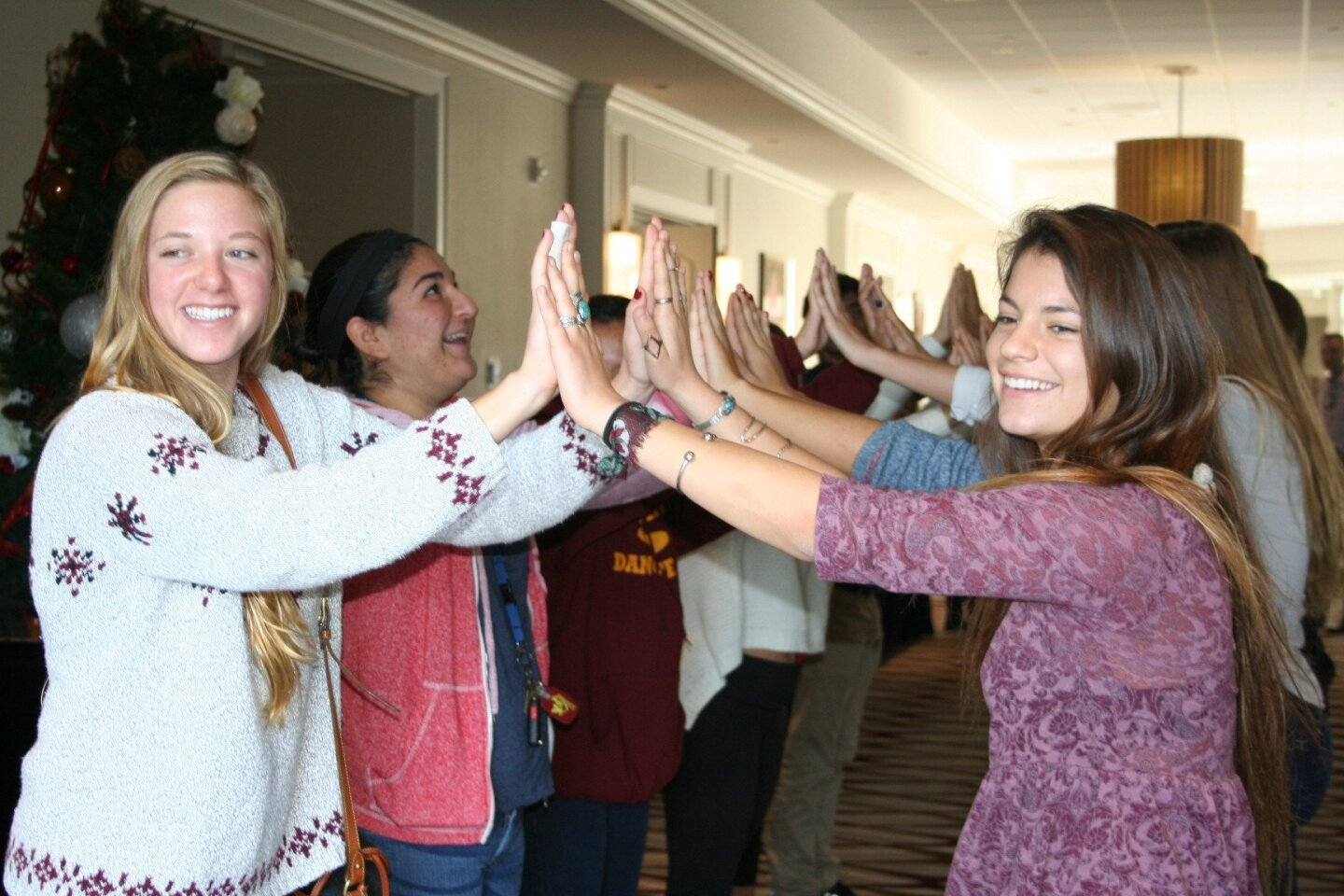 Students from Torrey Pines High School's Interact Club welcomed the children