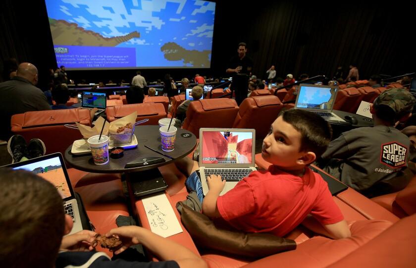 Gaming at an IPic theater