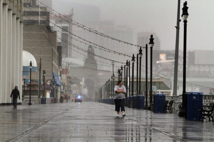 Some in Atlantic City roll the dice with Hurricane Sandy