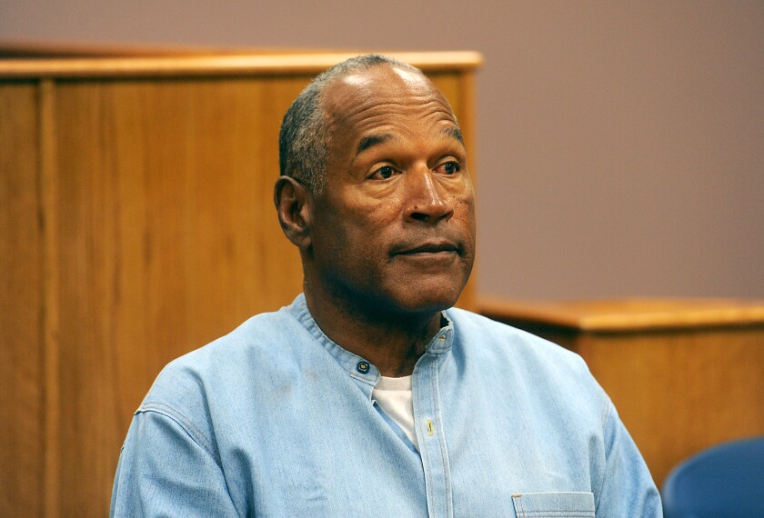 O.J. Simpson attends his parole hearing at Lovelock Correctional Center in Lovelock, Nevada on July 20, 2017.