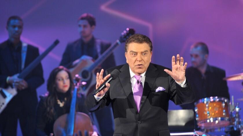 "Mario Kreutzberger, better known by his stage name Don Francisco, hosting ""Sabado Gigante."""