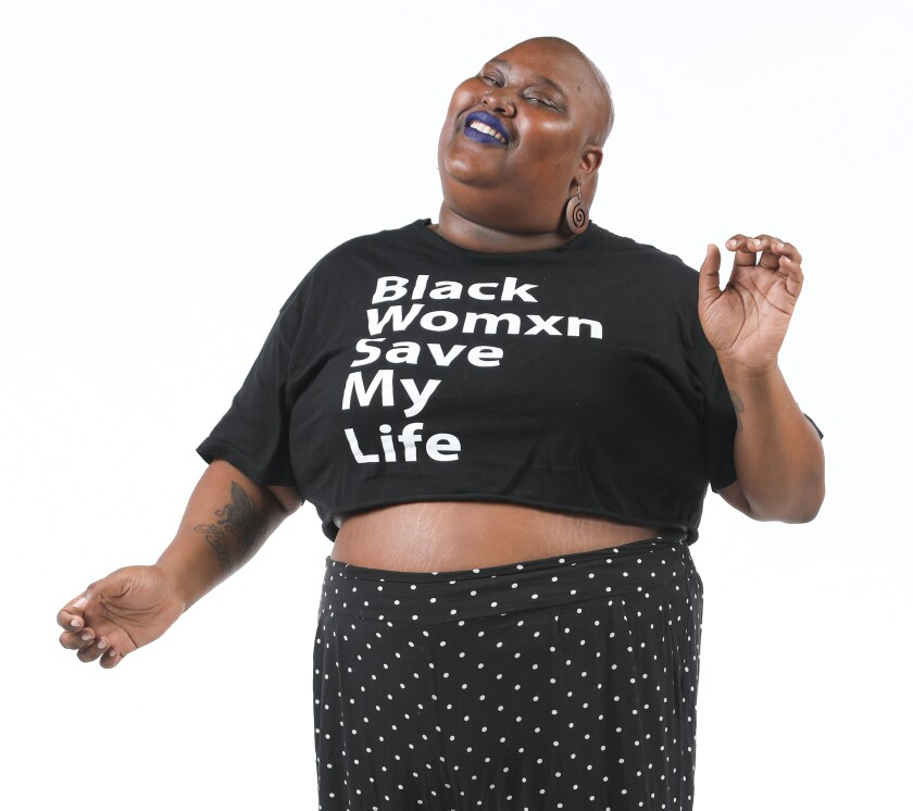 """Kelsey Daniels is a co-organizer of the March for Black Women San Diego and founder of the Black Womxn Save My Life summit. The march, in its third year this year, takes place on Sunday, March 8, and advocates for black women who """"continuously show up for our community."""""""