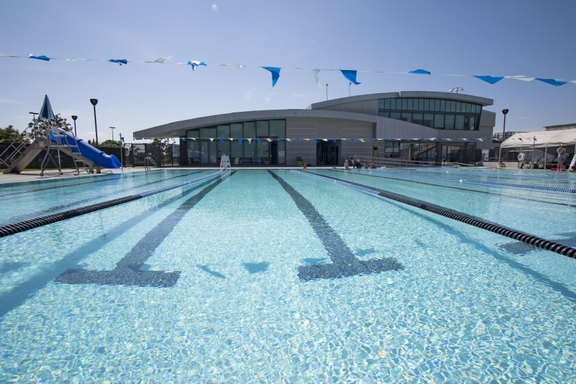 Irvine's William Woollett Jr. Aquatics Center reopened June 15 with lap swimming and water-walking, by reservation only.