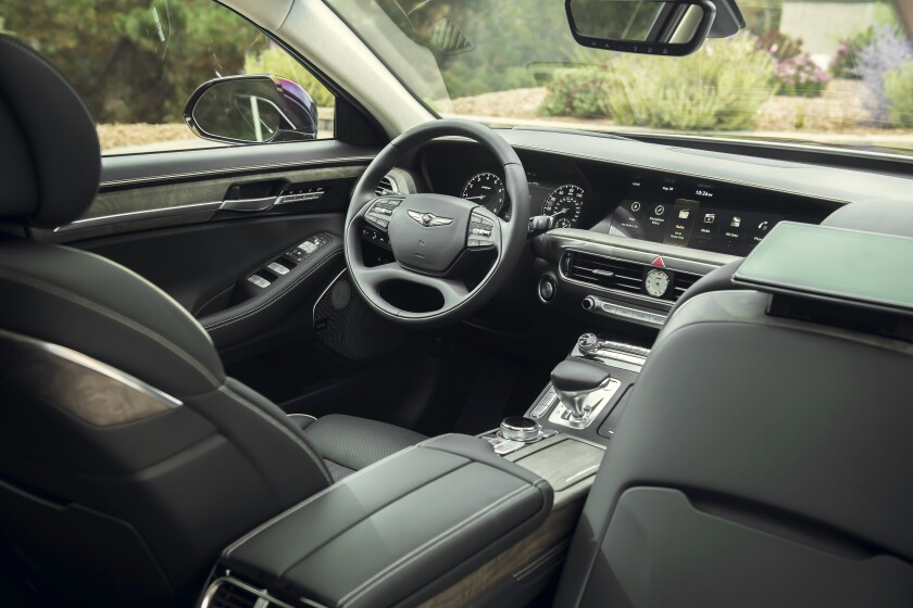 The Hyundai Genesis G90's clean-lined interior is loaded with state-of-the-art amenities.