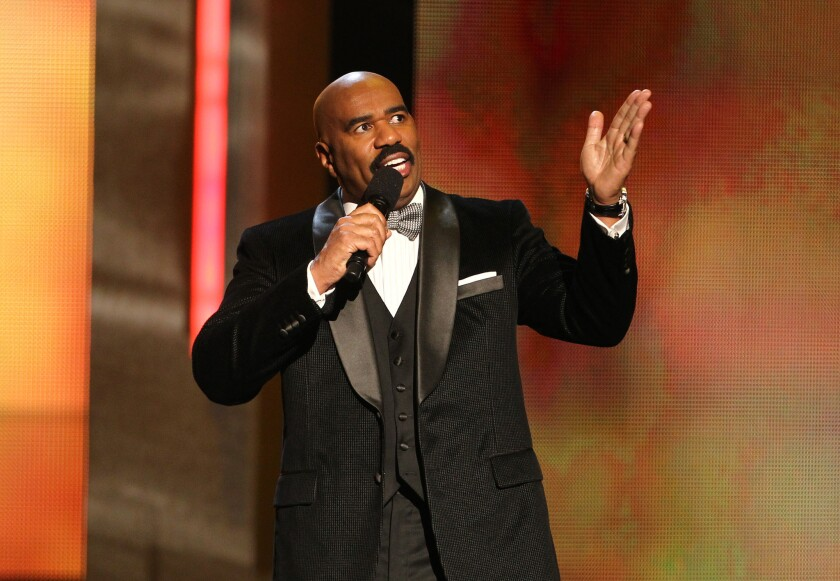 Steve Harvey hosted the 44th NAACP Image Awards at the Shrine Auditorium in Los Angeles.