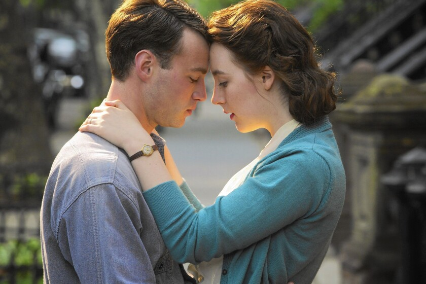 "Times film critic Kenneth Turan calls ""Brooklyn,"" starring Emory Cohen and Saoirse Ronan, ""a feast of rich emotions presented with wit, grace and not a trace of sentimentality."""