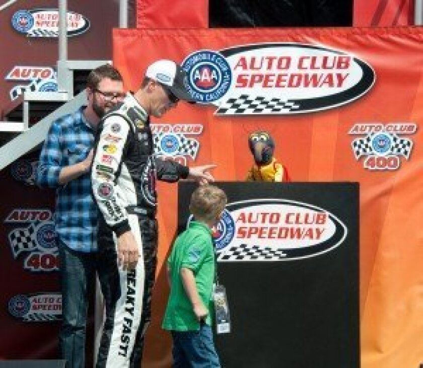 Rutledge Wood, Kevin Harvick & son, and The Great Gonzo